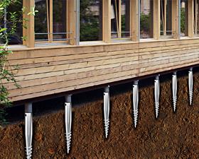 využitie zemných skrutiek na kotvenie stavieb bez použitia betónu