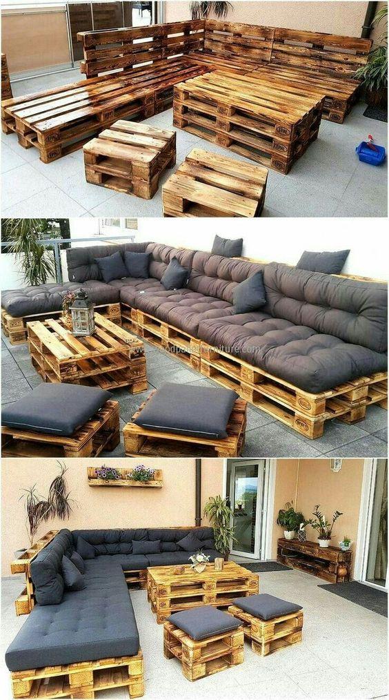 Záhradné posedenie z paliet
