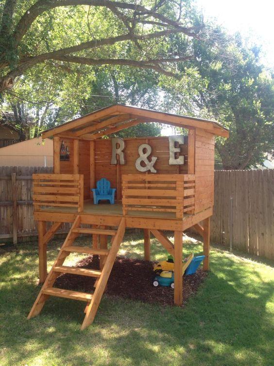 detský záhradný domček - urob si sám